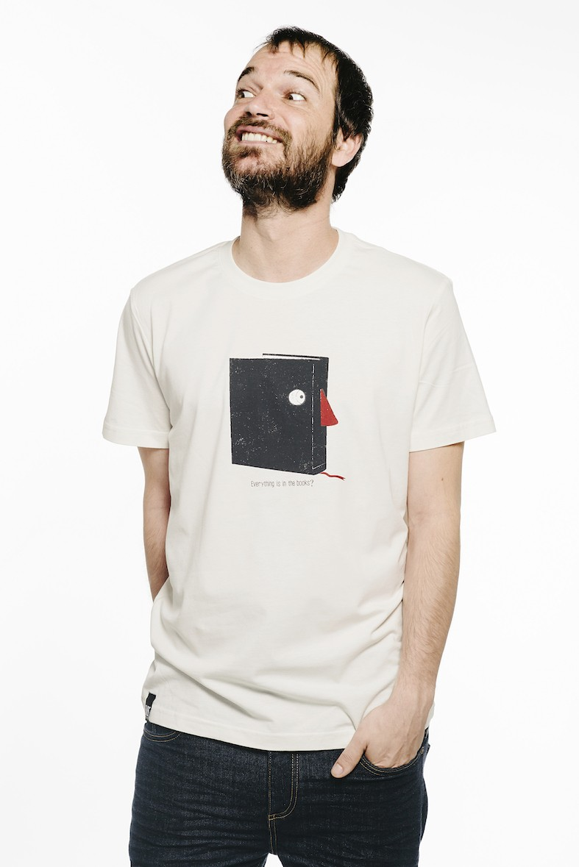 camiseta libro blanca
