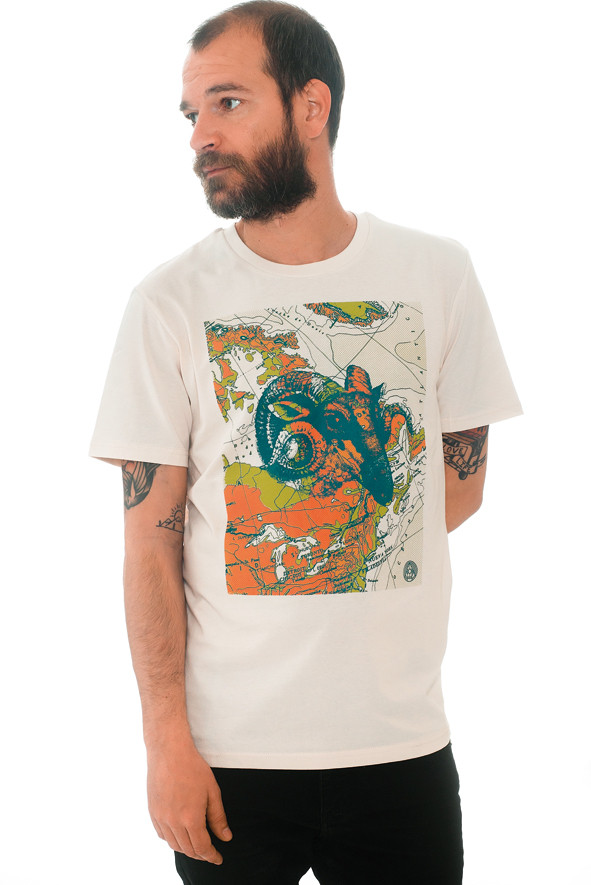camiseta mapamundi
