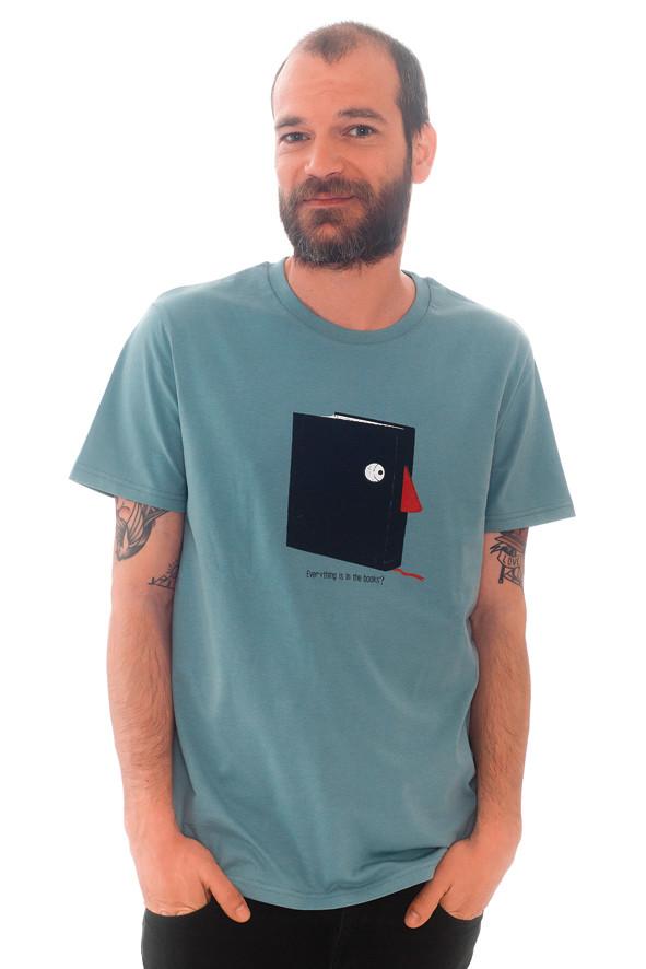 camiseta libro azul