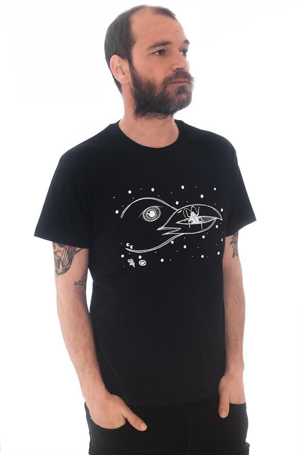 camiseta gaviota negra
